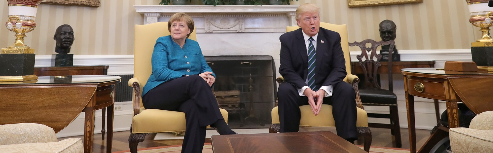 German Chancellor Angela Merkel and US-President Donald Trump at the White House on Friday (Photo: Barcroft Media via Getty Images)