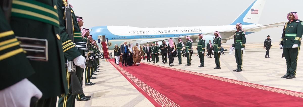 President Donald Trump's red carpet welcome from King Salman bin Abdulaziz Al Saud (Photo: White House)