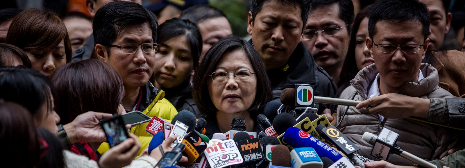 Tsai Ing-wen during the Taiwan presidential election 2016 (Photo by Ulet Ifansasti/Getty Images)