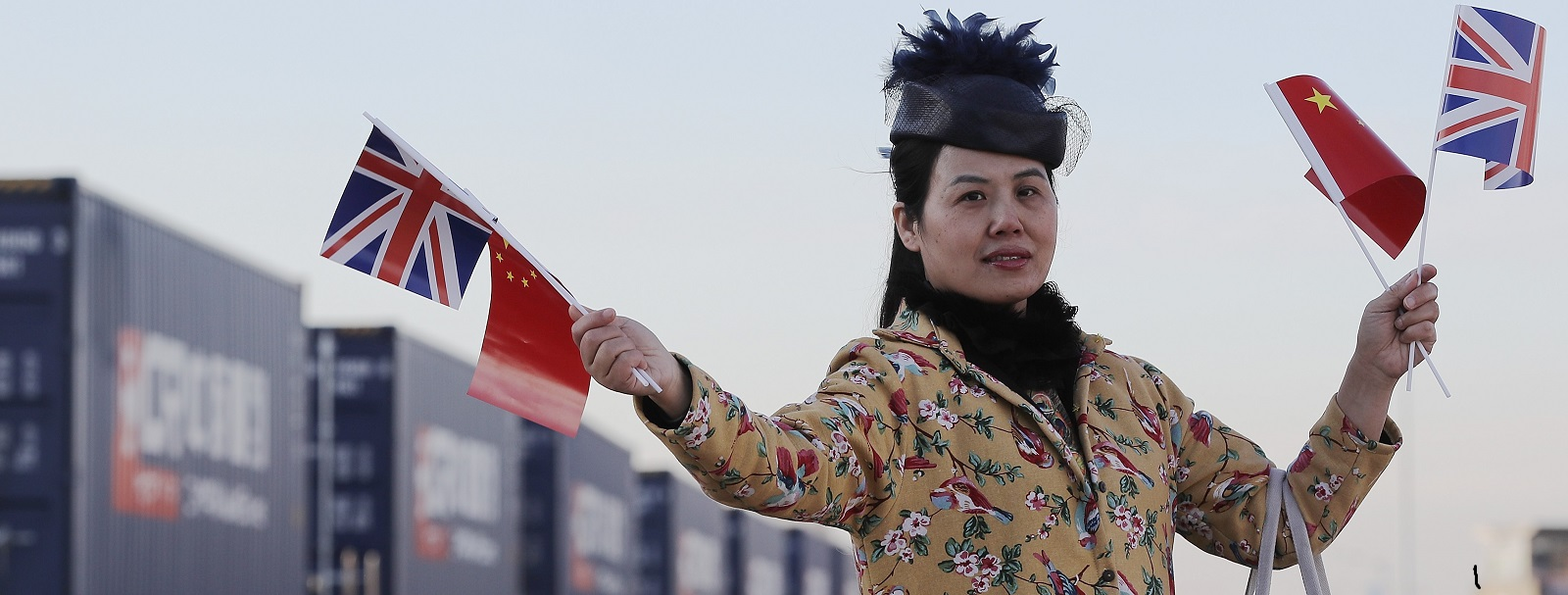 The first freight train from China arrives In the UK (Photo: Dan Kitwood/Getty)
