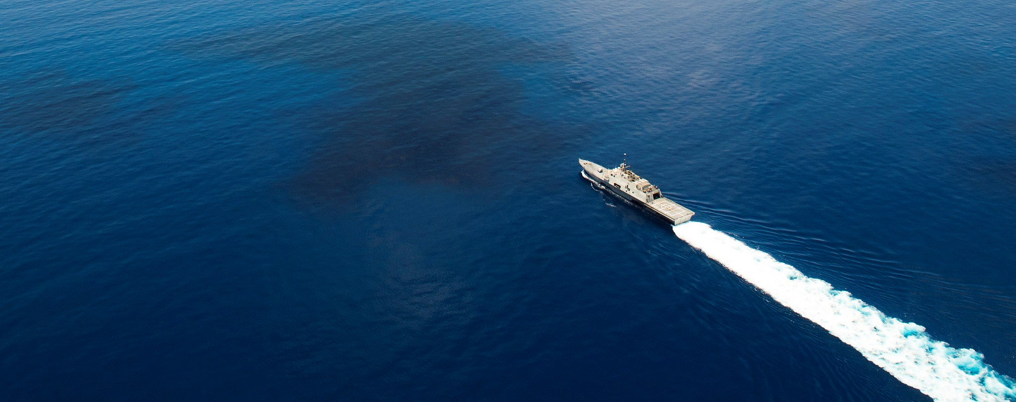 The USS Fort Worth on a routine patrol in international waters of the South China Sea near the Spratly Islands in 2015. (US Navy photo)