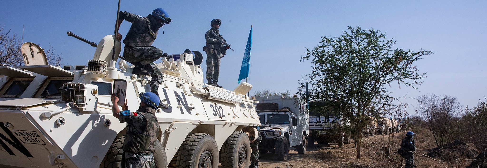 A UN-protected convoy travelled through South Sudan in January to assess the humanitarian situation (Photo: Flickr/UNMISS)
