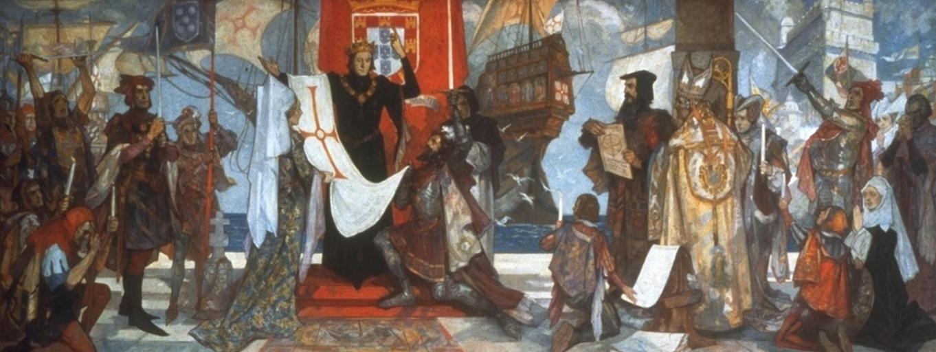 'Vasco da Gama leaving the port of Lisbon, Portugal'. (Courtesy of Wikipedia)
