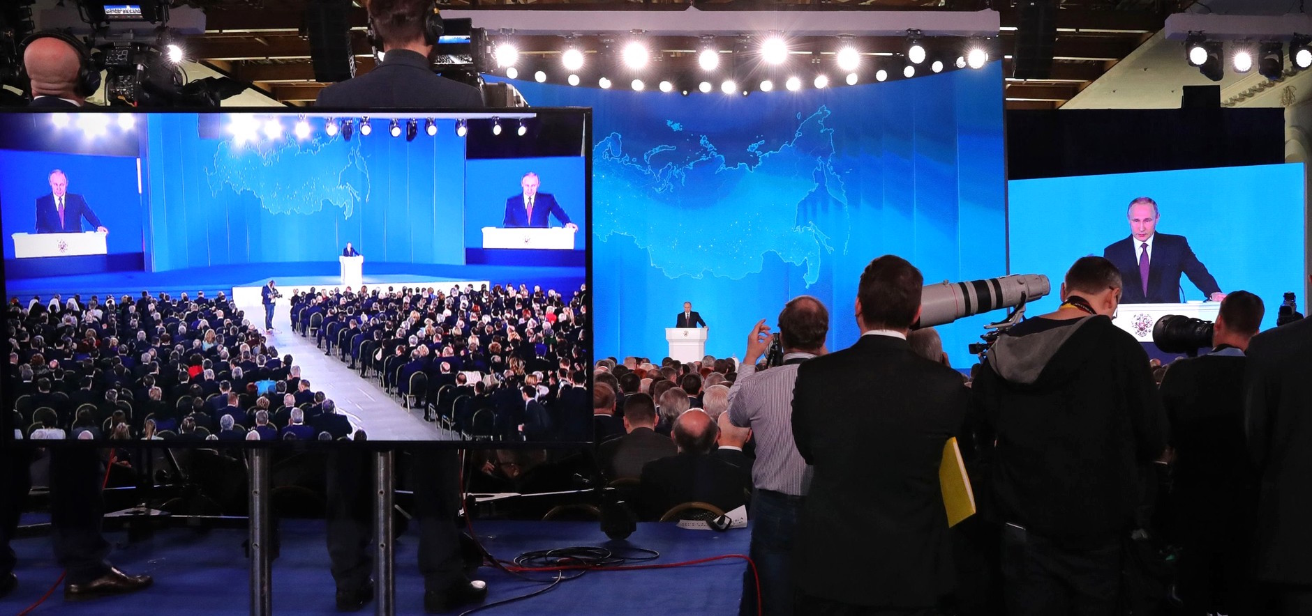Vladimir Putin addresses Russia's Federal Assembly on 1 March (Photo: Kremlin.ru)