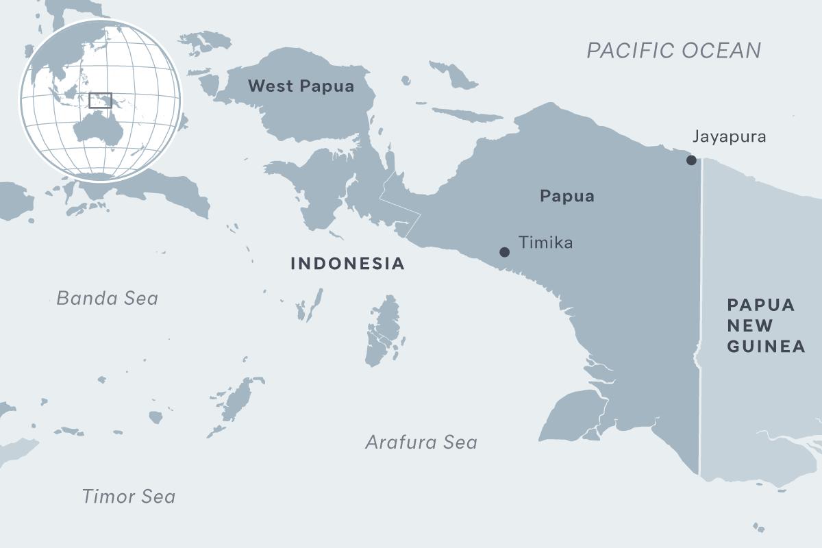 West Papua map