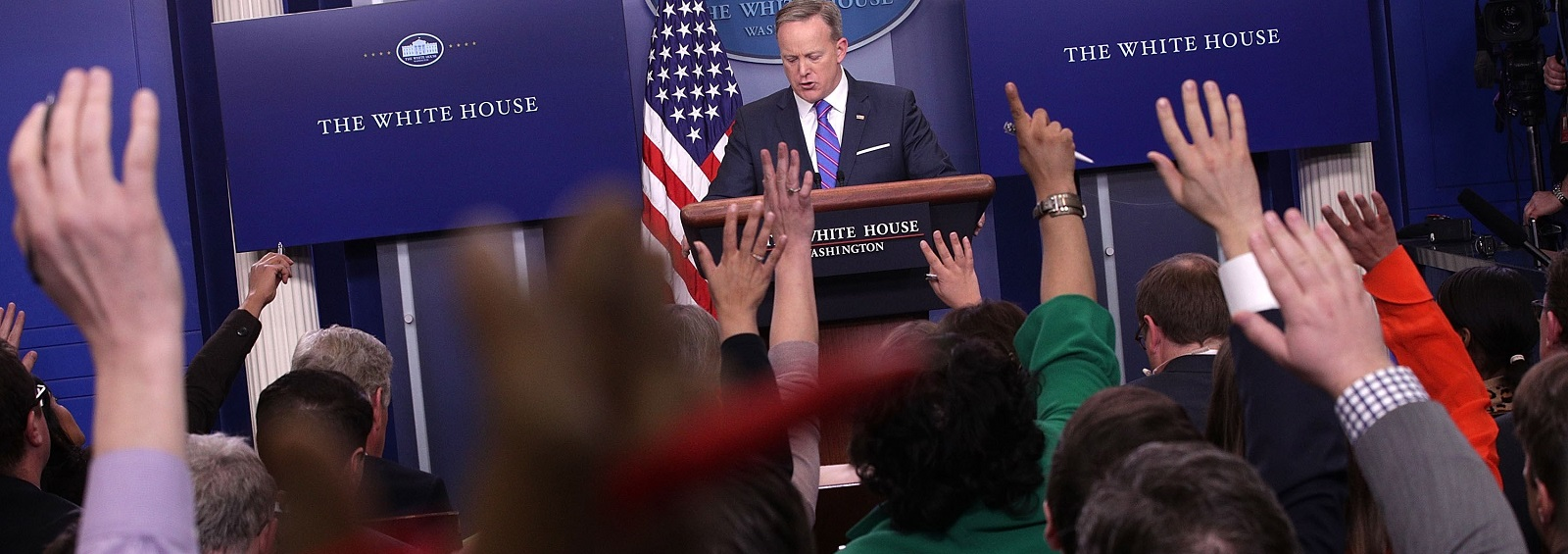 The daily press briefing at the White House (Photo: Alex Wong/Getty Images)