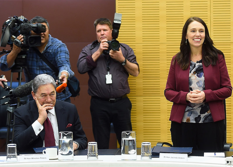 Prime Minister Jacinda Ardern with Winston Peters (Photo: Mark Tantrum/Getty Images)