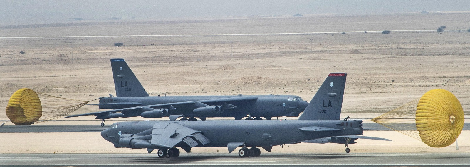 US Air Force B-52 Stratofortress aircraft at al-Udeid Air Base in Qatar last year. (Photo: US Dept of Defense)