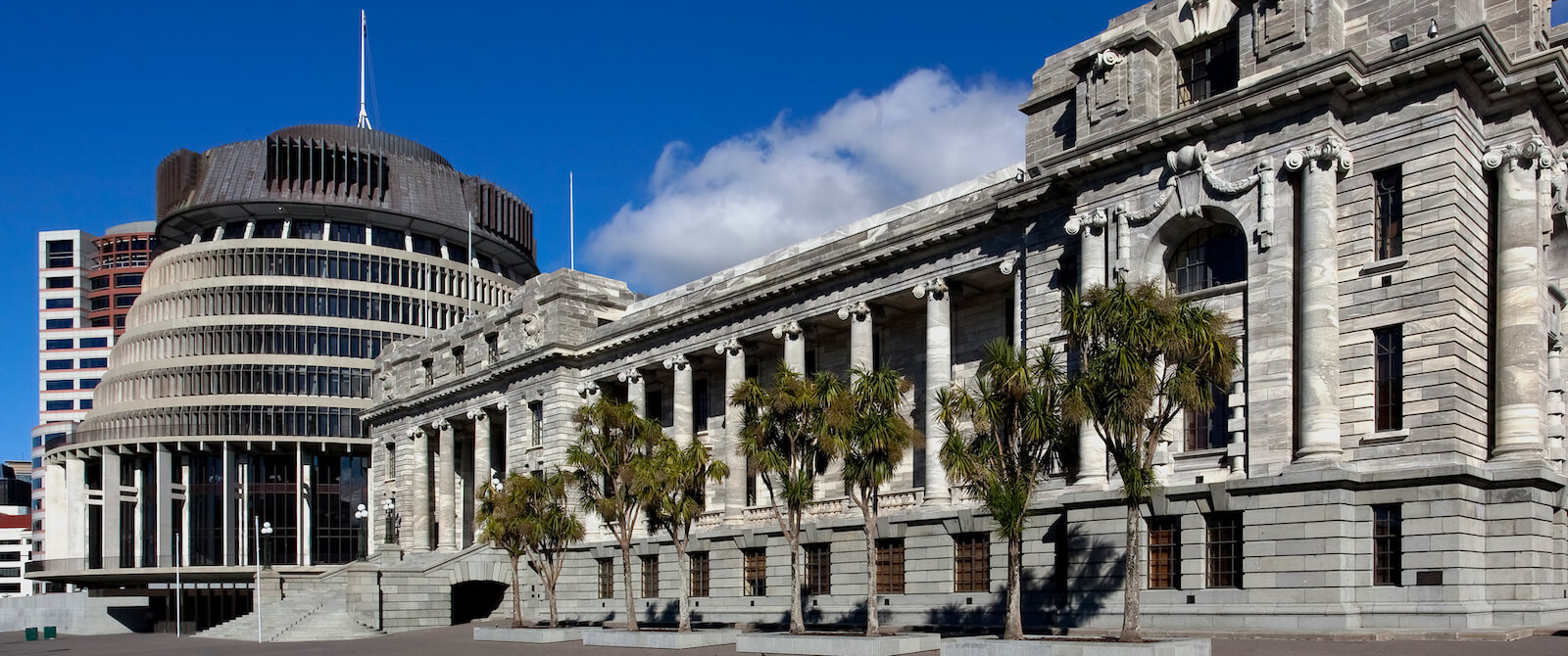 The Beehive, the administrative wing of the New Zealand parliament buildings in Wellington (Photo: Russel Street/Flickr)
