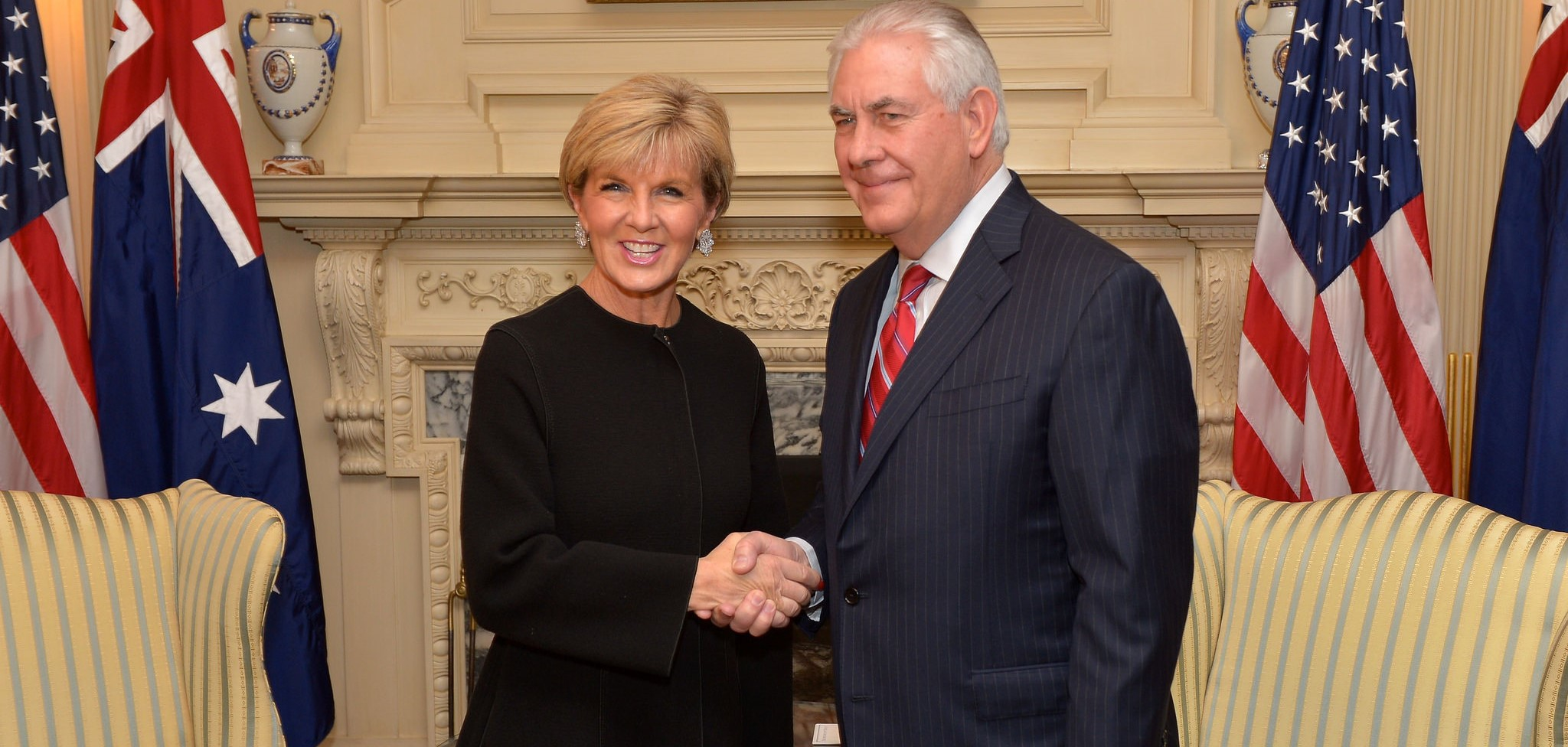 Australian Foreign Minister Julie Bishop meeting with US Secretary of State Rex Tillerson (Photo: Flickr/US Department of State)