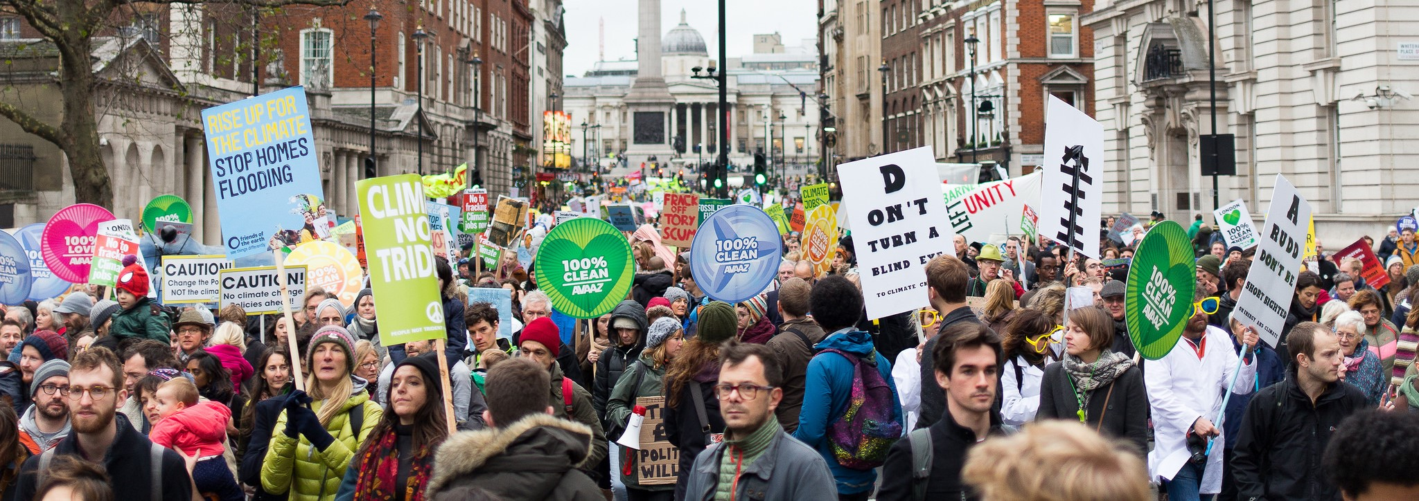 A rally in London ahead of Paris COP 23 (Photo: Flickr/Matthew Kirby)