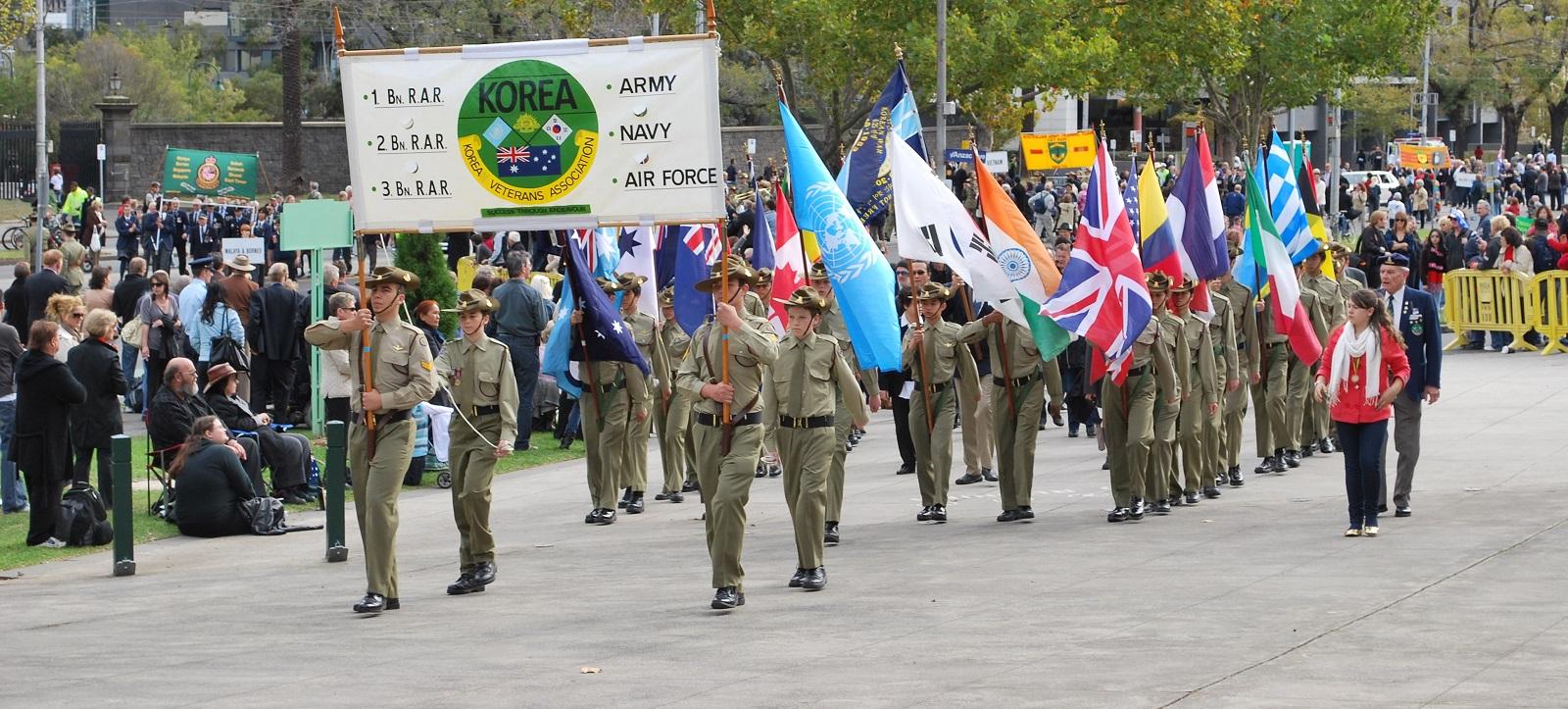 Korean War ex-servicemen at the 2009 Anzac Day march in Melbourne (Photo:  Mattinbgn/Wikimedia Commons)