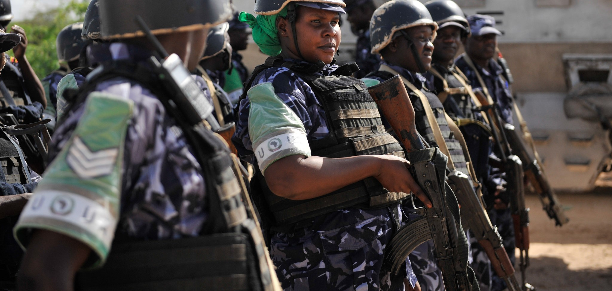 Police officers serving in the African Union Mission in Somalia (AMISOM) (Photo: Flickr/AMISOM)
