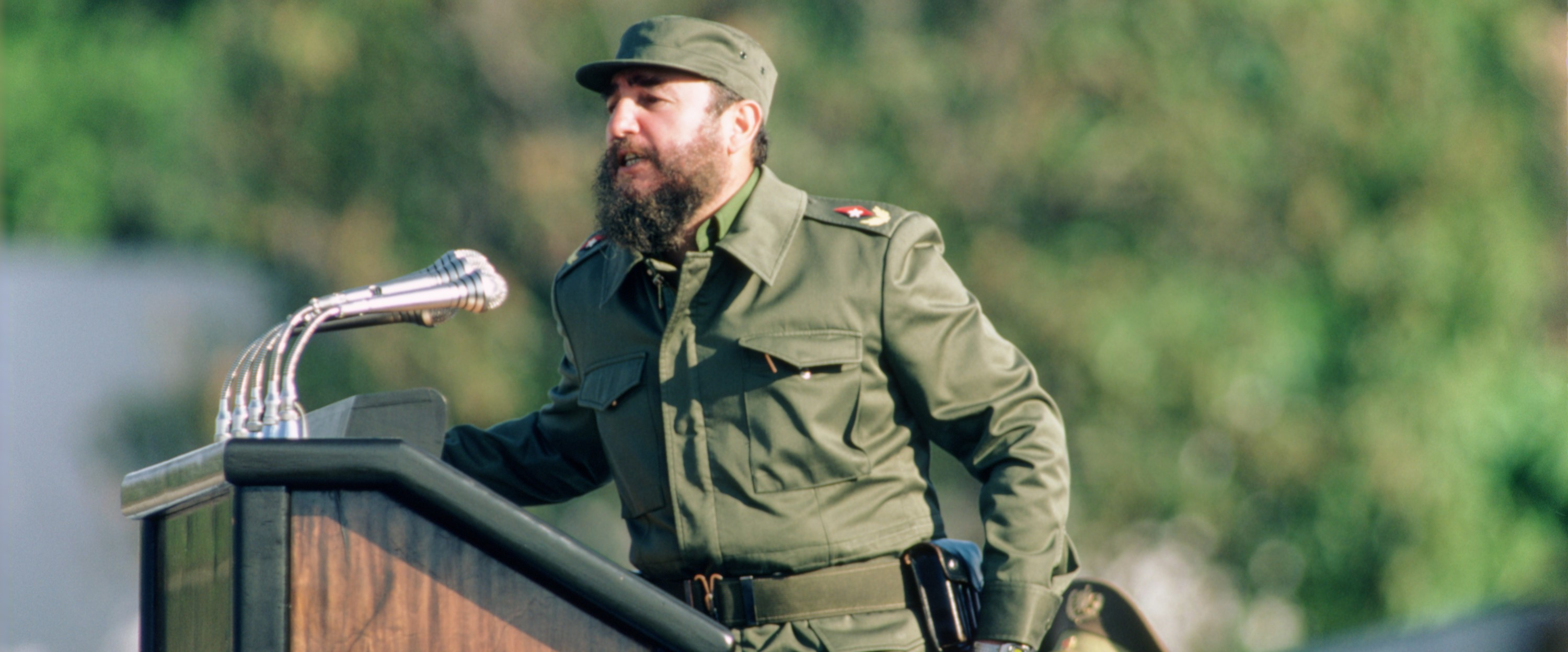 Fidel Castro addressing a Havana crowd, 1981. Photo: Getty Images/David Hume Kennerly
