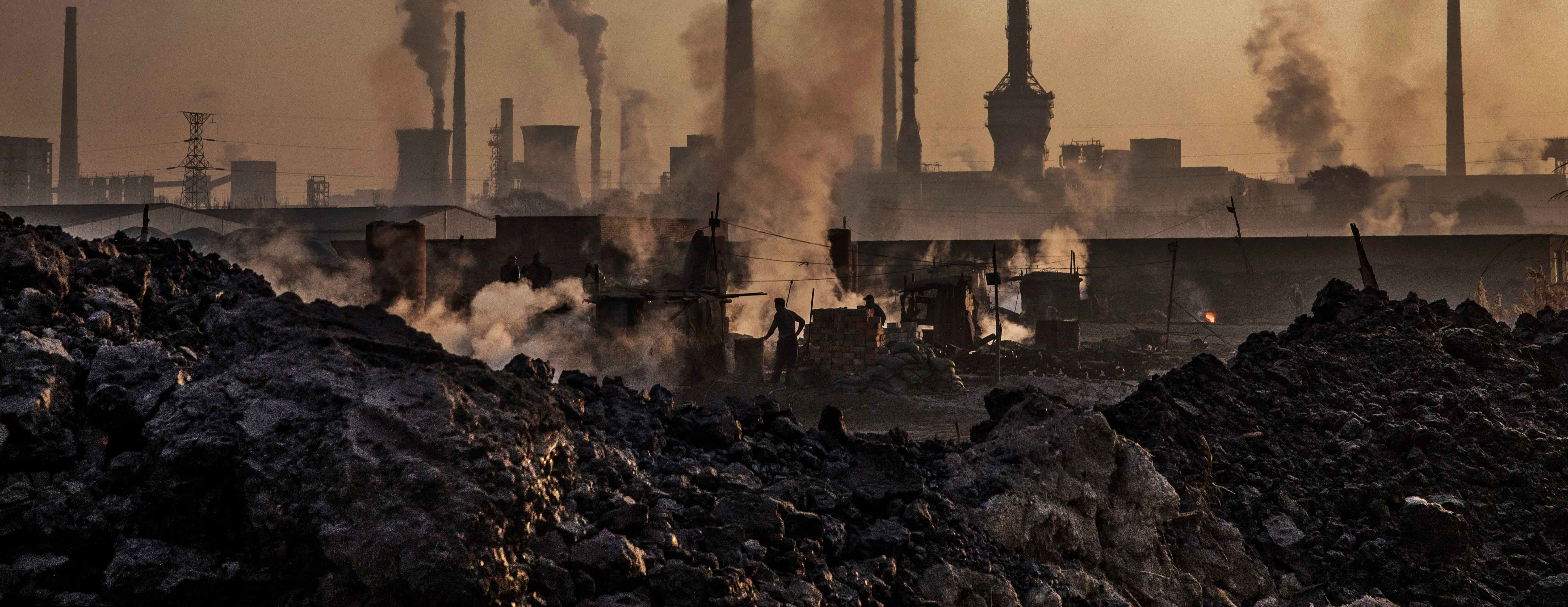 A steel plant in Inner Mongolia, China, November 2016. Photo: Getty Images/Kevin Frayer