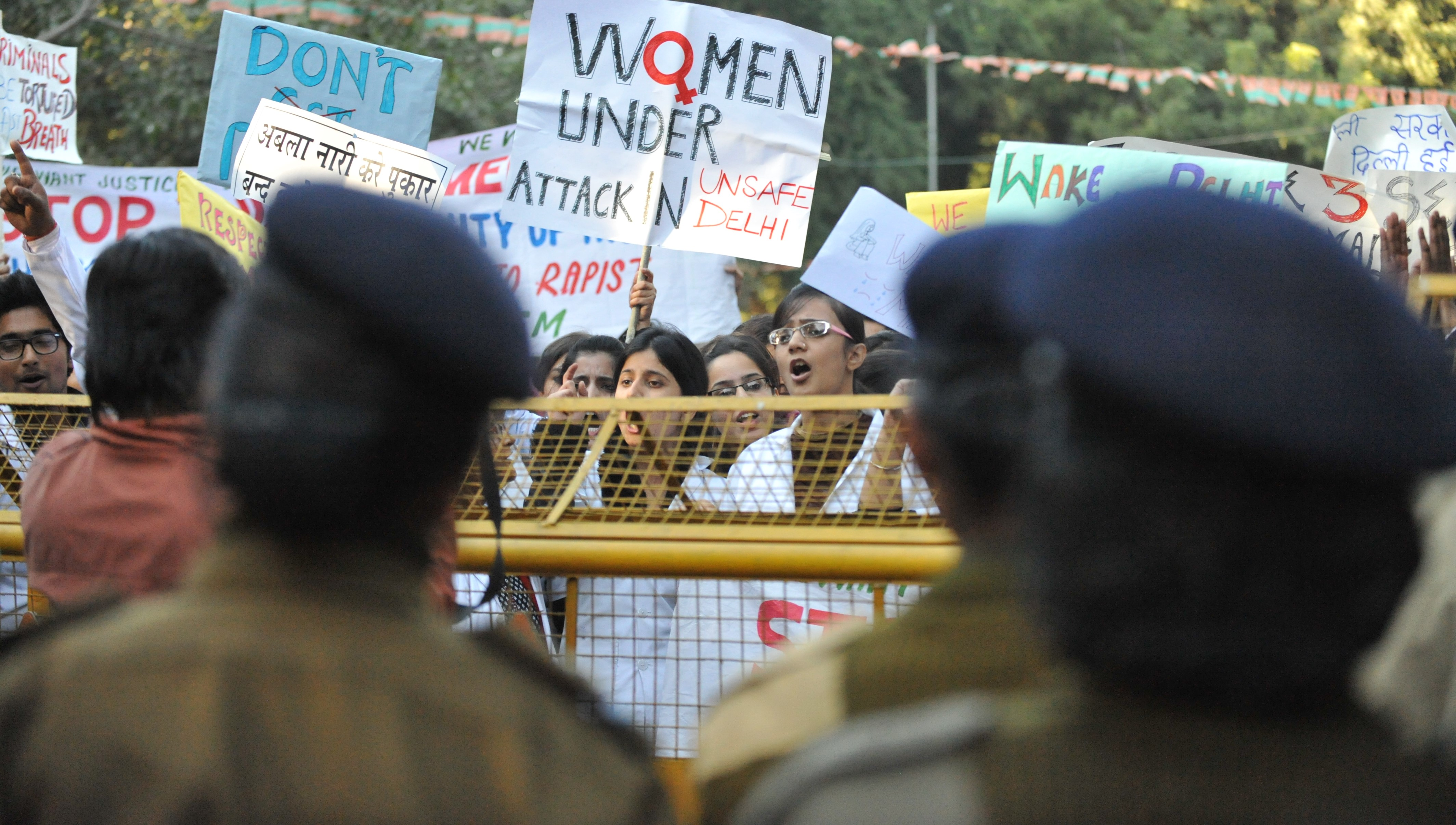 A rally in 2012 protesting the gang rape and assault of Jyoti Singh, who later died of her injuries (Photo: Getty Images/Barcroft Media)