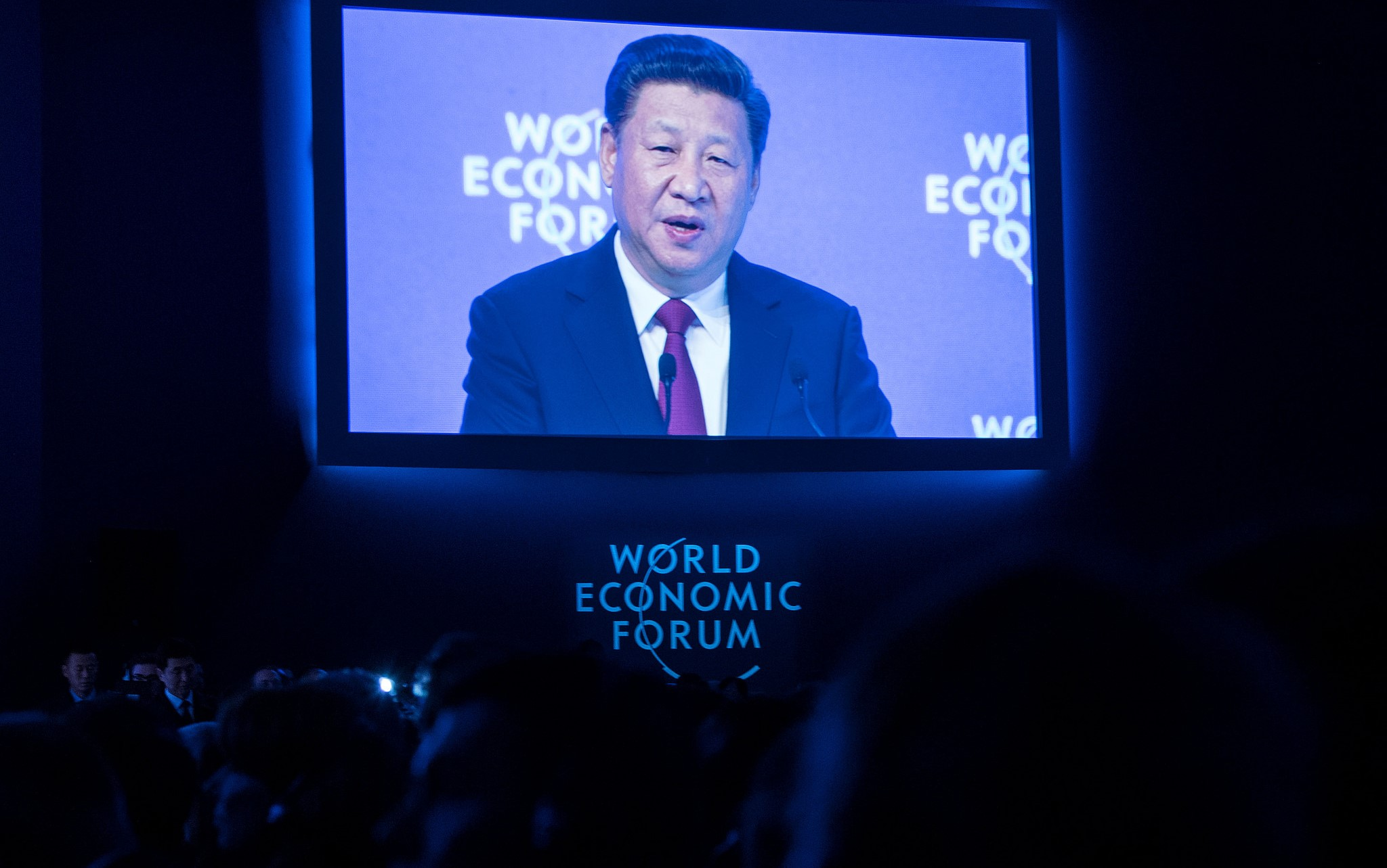 Chinese President Xi Jinping addressing the World Economic Forum at Davos, Switzerland, 2017 (Photo: Flickr/World Economic Forum)