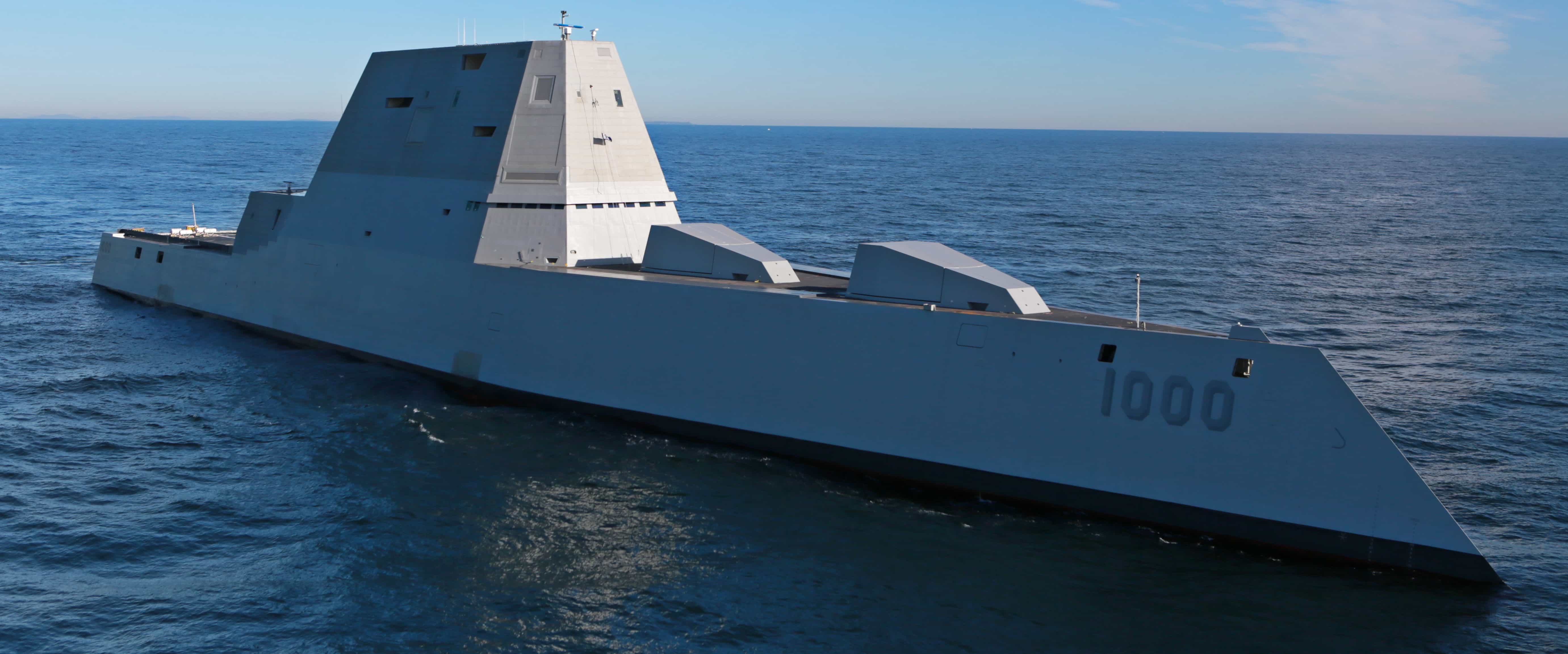 The USS Zumwalt in December 2015. Photo: US Navy.