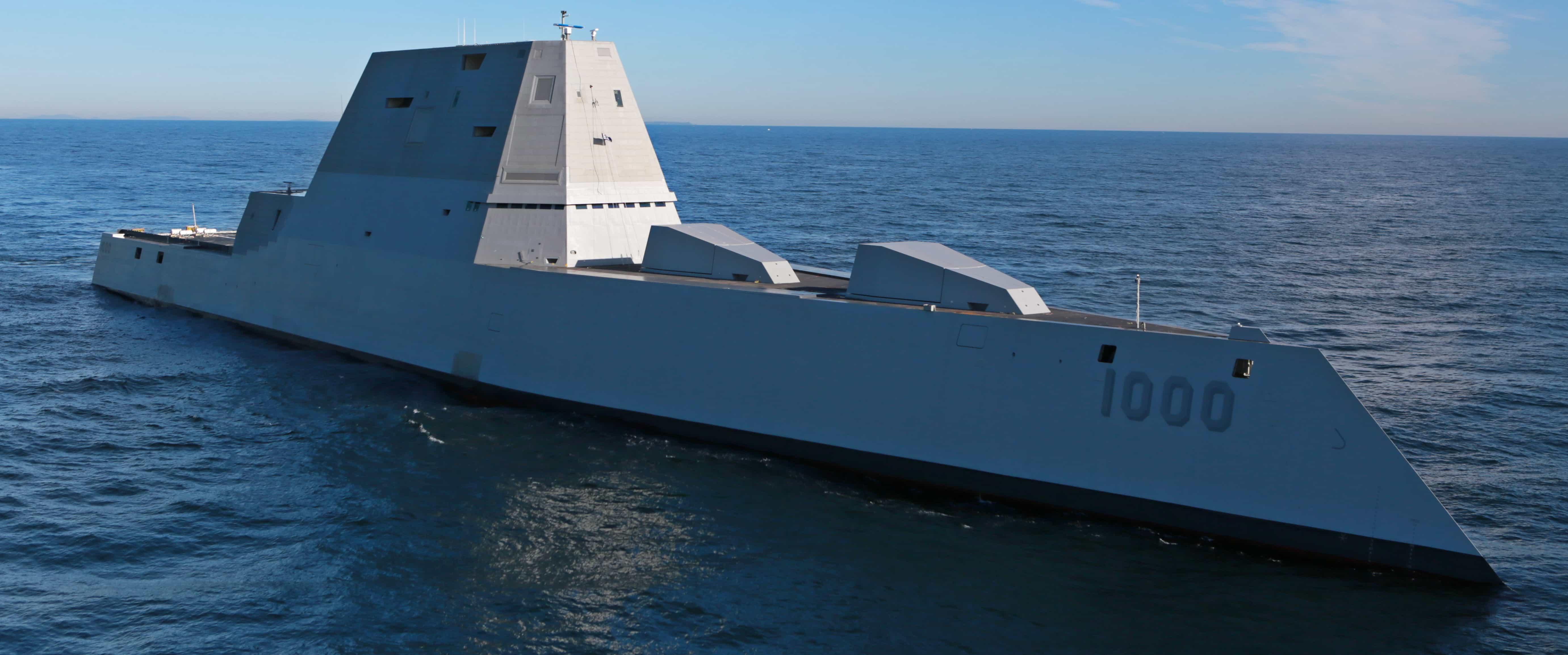 The USS Zumwalt in December 2015. Photo: US Navy.