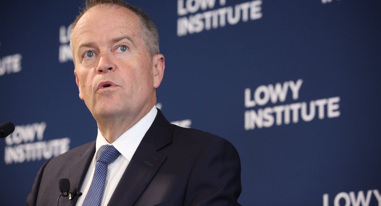 Opposition leader Bill Shorten at the Lowy Institute, 29 October 2018 (Photo: Peter Morris/Sydney Heads)