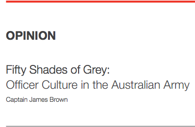 Fifty Shades of Grey: Officer Culture in the Australian Army | Lowy