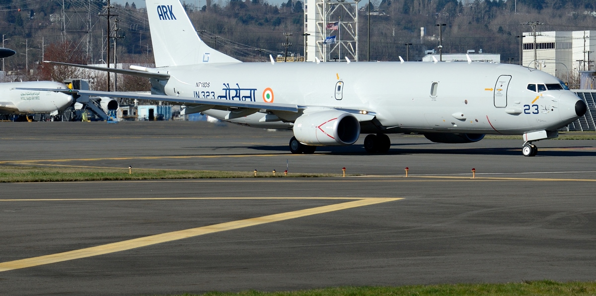 One of the Indian Navy's new P8 anti-submarine warfare aircraft. (Flickr/Anderw W Sieber)