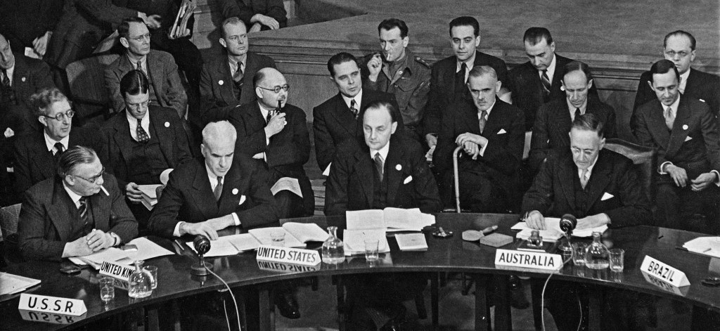 The first meeting of the united nations