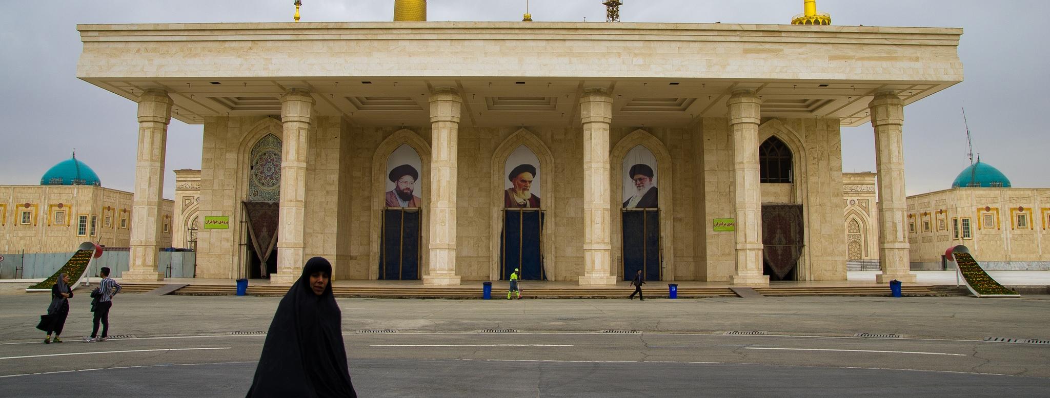 The entrance of the mausoleum of Ayatollah Khomeini, founder of the Islamic Republic of Iran. (Flickr/Gilbert Sopakuwa)