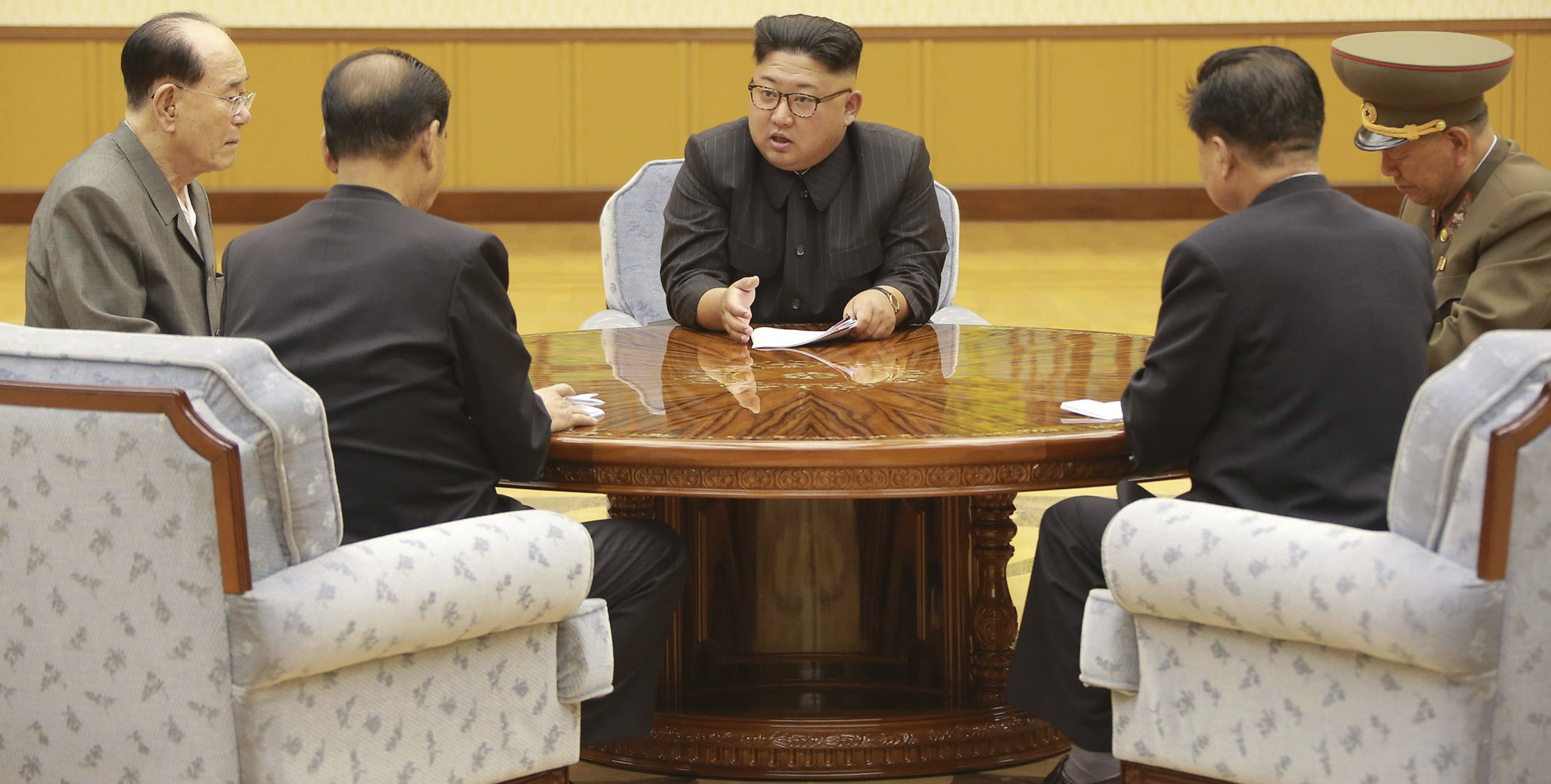 North Korean leader Kim Jong-un attending a meeting (Photo: KCNA)