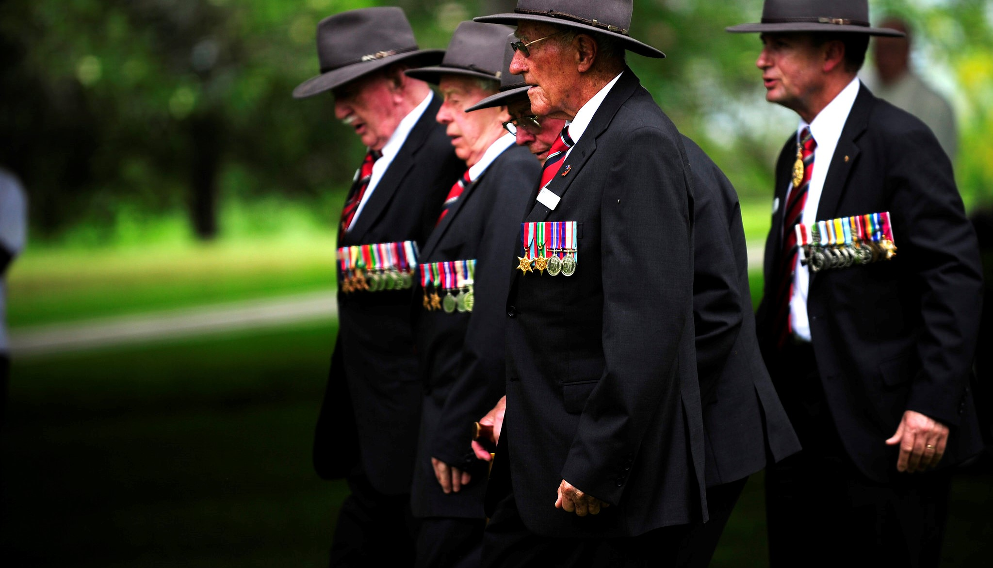 Veterans commemorate the 70th anniversary of the Kokoda campaign at the Port Moresby (Bomana) War Cemetery in 2012.