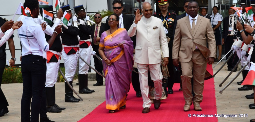 Indian President Ram Nath Kovind in Madagascar, March 2018. (Photo courtesy of Madagascar Government)