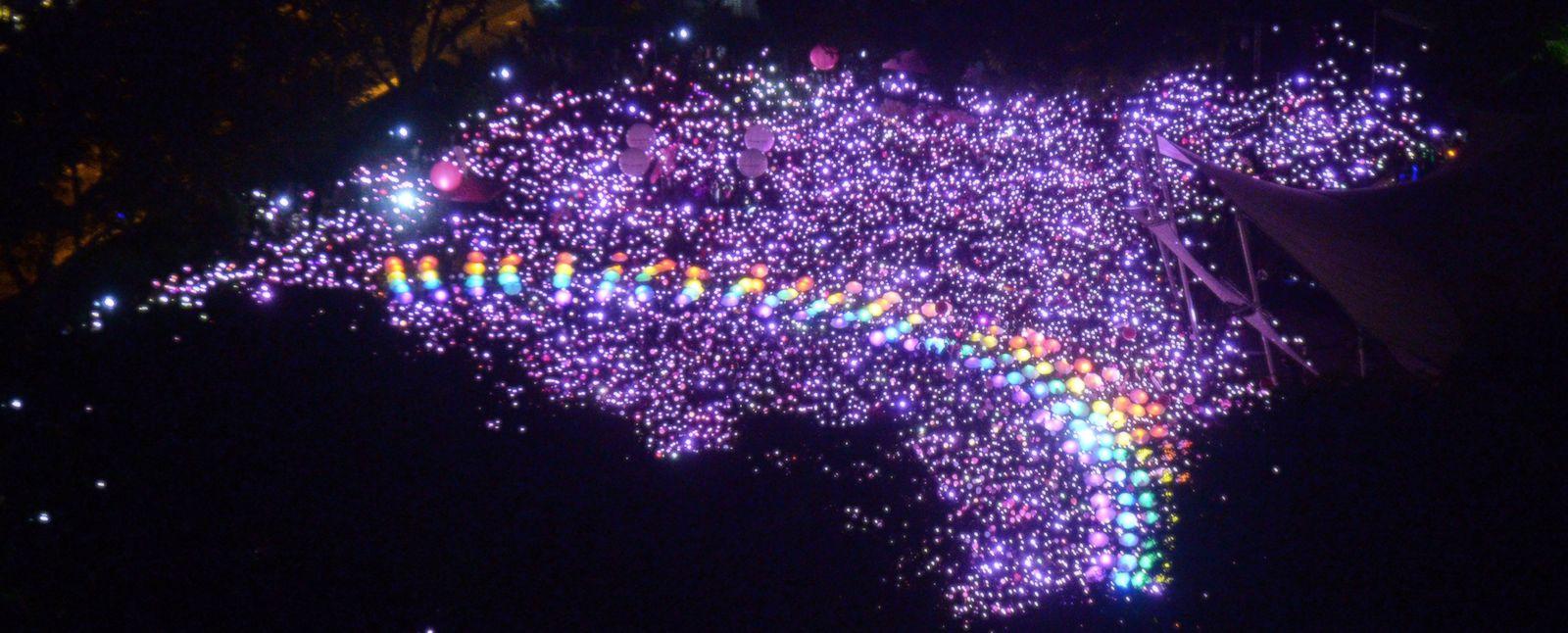 The Pink Dot festival at Hong Lim Park, Singapore (Photo: Roslan Rahman via Getty)