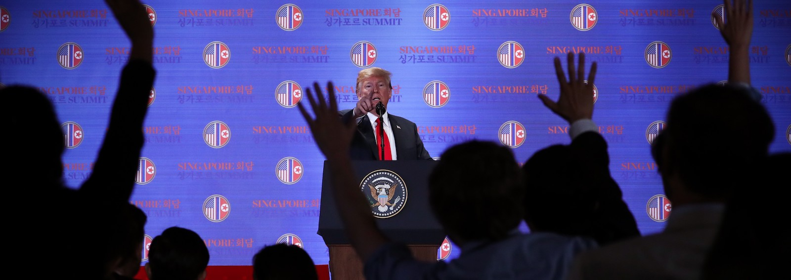 US President Donald Trump speaks to the press after the Singapore summit (Photo: Anadolu Agency/Getty)