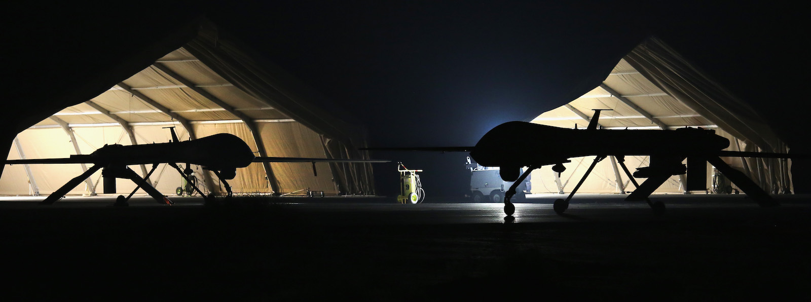 A US Air Force MQ-1B Predator unmanned aerial vehicle in the Persian Gulf. (Photo: John Moore/Getty)
