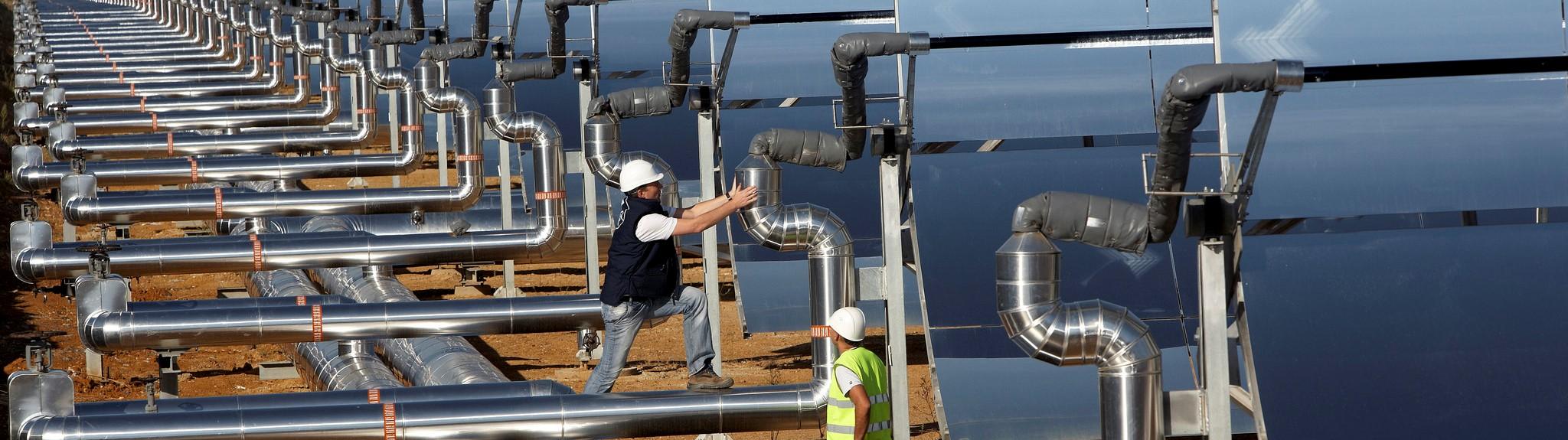 A solar-thermal power plant (Photo: Flickr/ Bilfinger SE)
