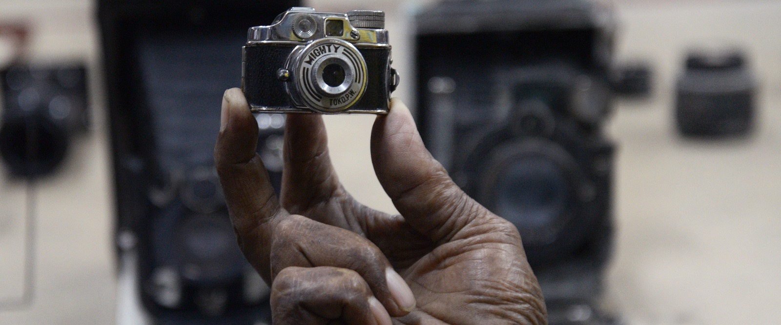 Miniature spy camera from World War II era (Photo by Saikat Paul/LightRocket via Getty Images)