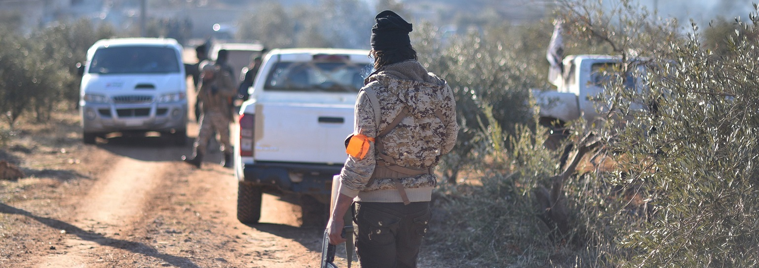 Free Syrian Army members on the move (Photo: Huseyin Nasir/Anadolu Agency/Getty Images)