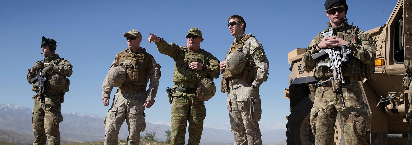 Australian Defence Force  and coalition mentors in Kabul (Photo: Defence Image Library)