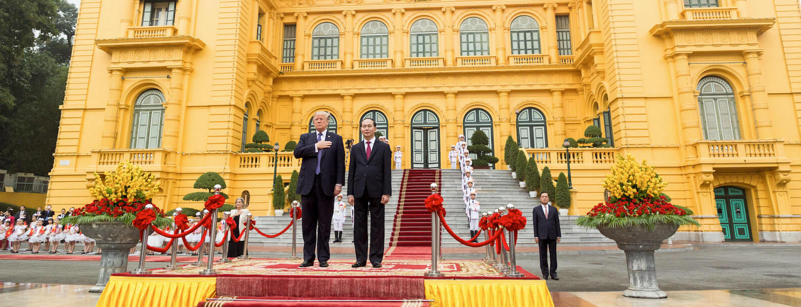 President Donald Trump and President Tran Dai Quang at the Presidential Palace, 12 November 2017, in Hanoi, Vietnam. (Official White House Photo by Shealah Craighead)