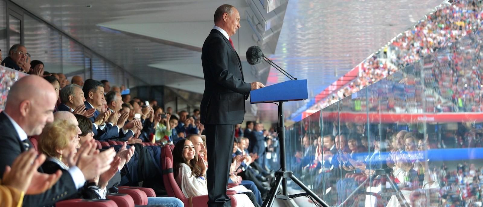 Russian President Vladimir Putin at the opening of the 2018 FIFA World Cup (Photo: Kremlin.ru)